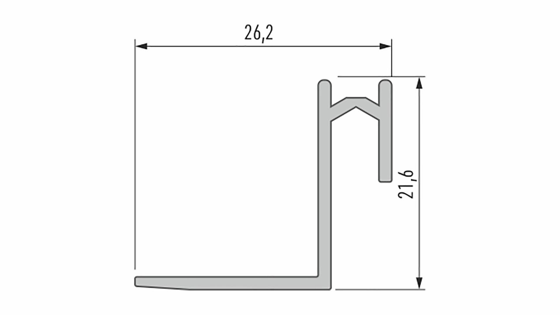 Profil LUMINES typ Roset srebrny anod. 2,02 m