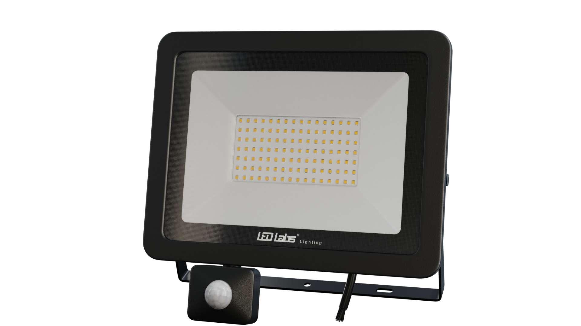 Naświetlacz LED 3Y 100W NW SMD IP44 SLIM PIR