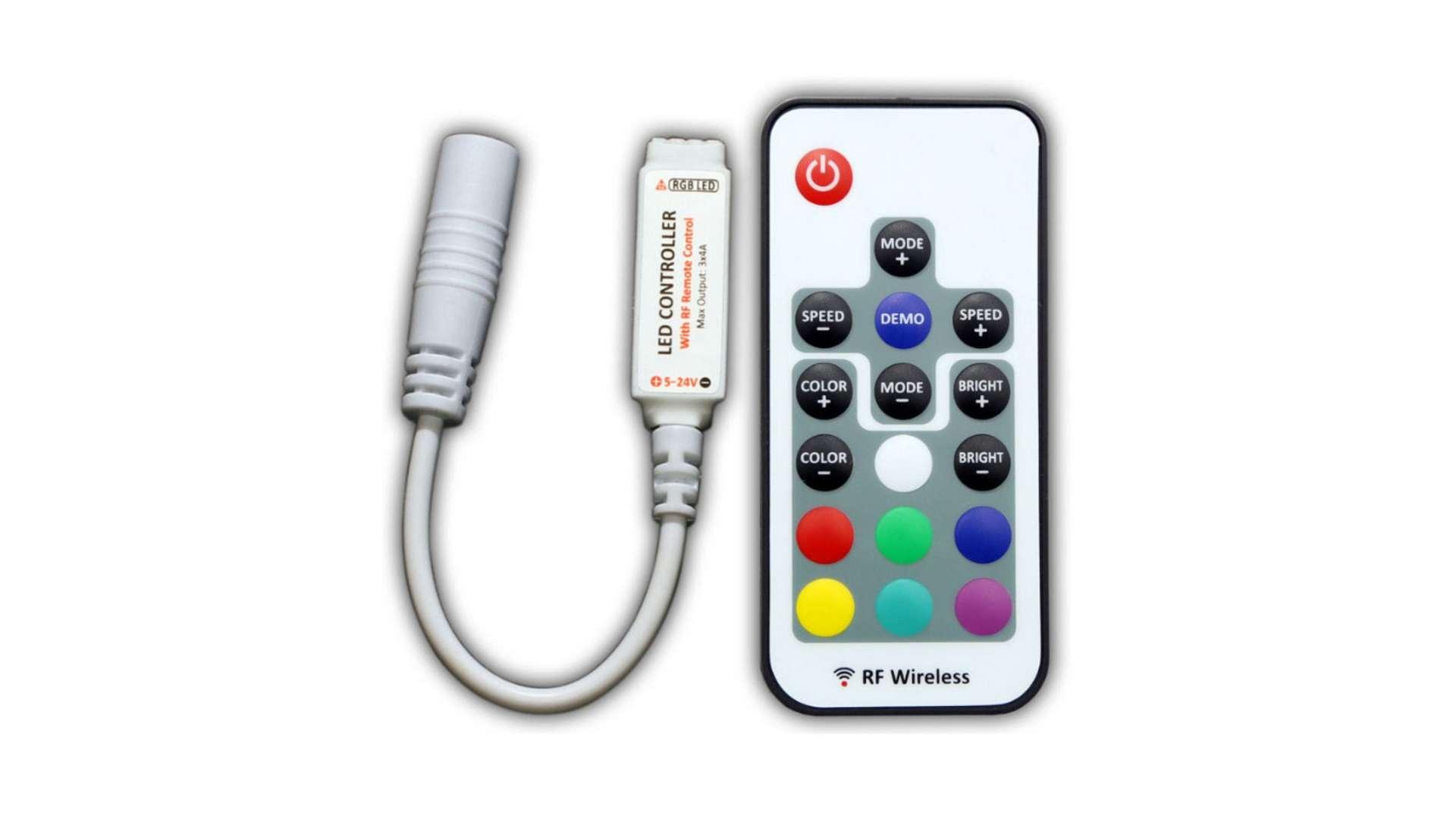 Sterownik RGB 12V 72W 18 przycisków mini RF White