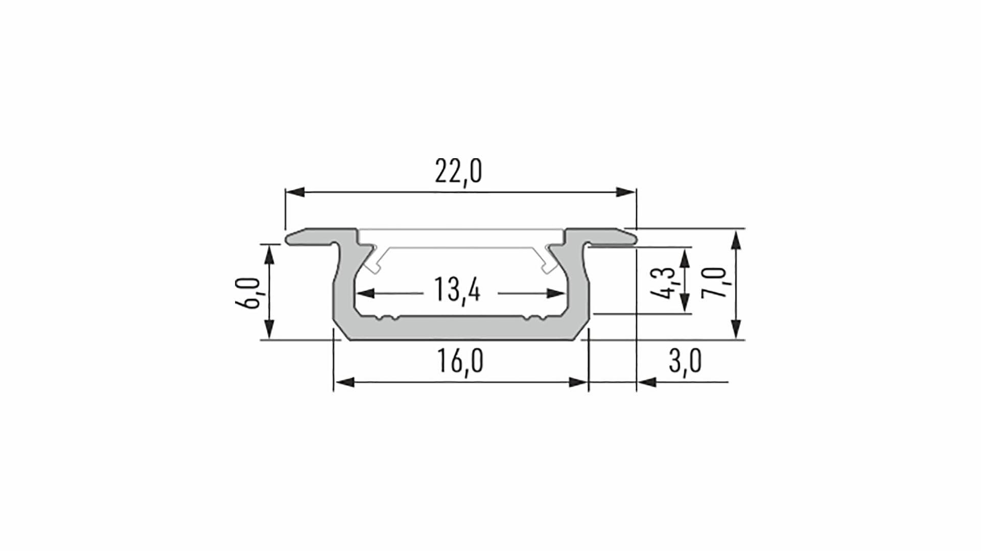 Profil LUMINES typ Z srebrny anod. 2,02 m