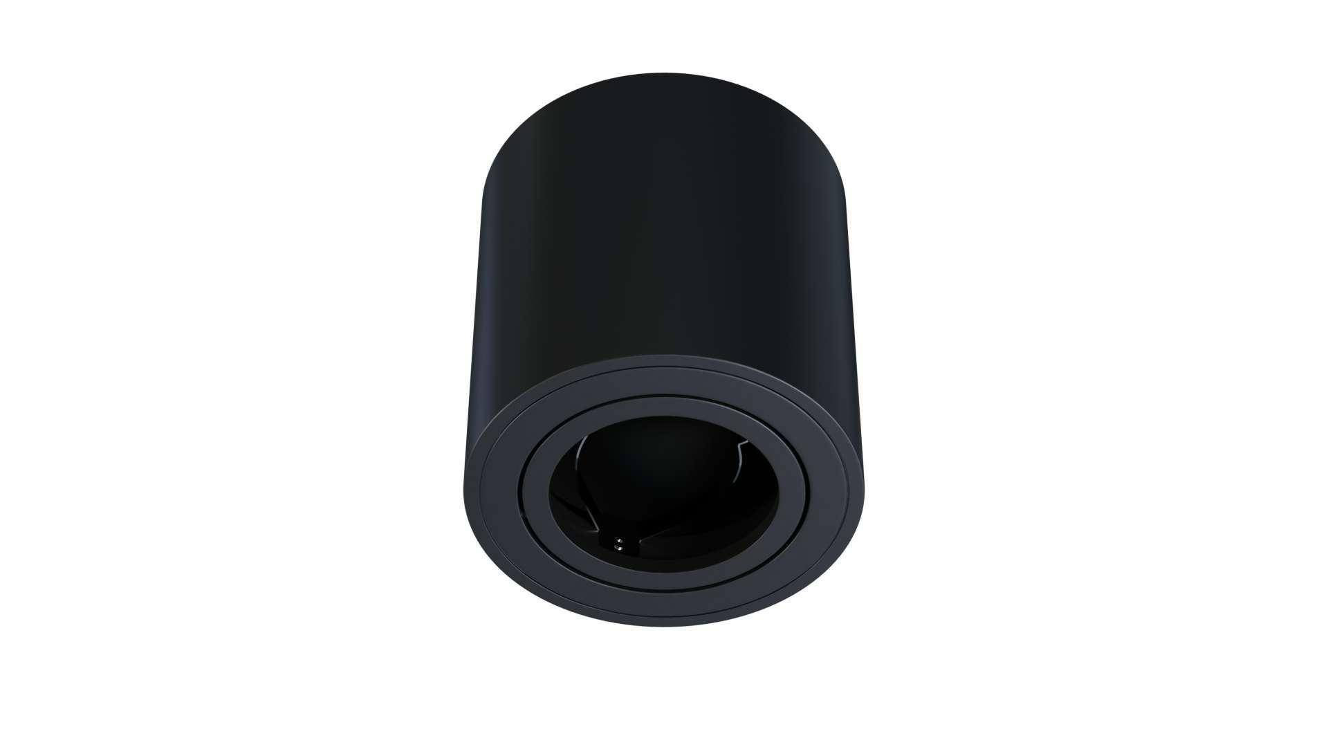 Oprawa natynkowa OREA okrągła czarna