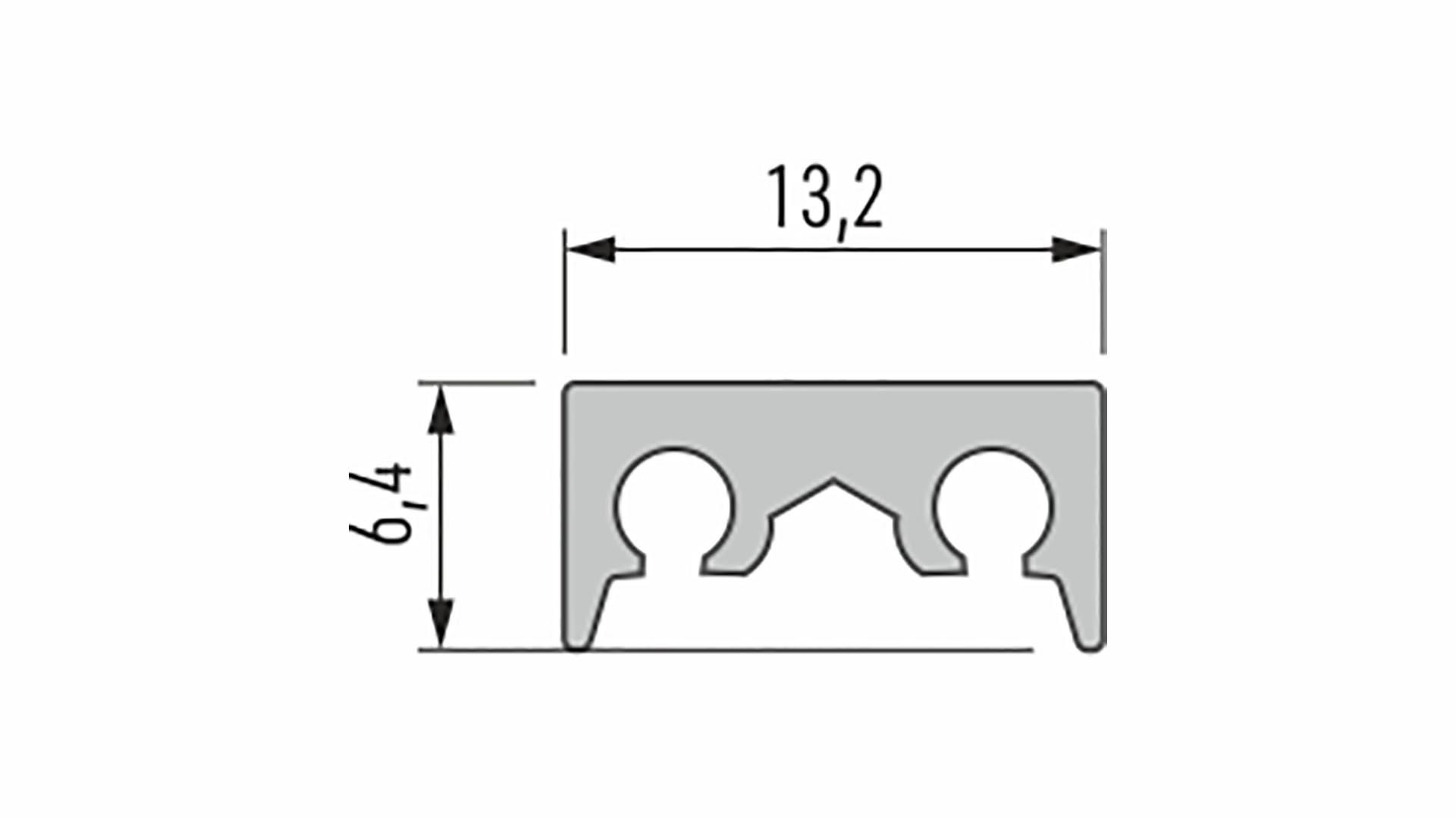 Profil LUMINES typ Cosmo M1 srebrny anod. 1 m