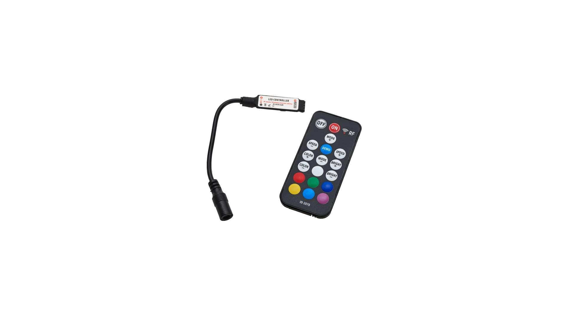 Sterownik RGB 12V 72W 18 przycisków mini RF Black