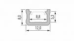 Profil LUMINES typ X biały lakier. 2,02 m