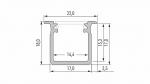 Profil LUMINES typ G inox anod. 1 m