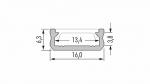 Profil LUMINES typ D inox anod. 3 m