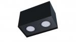 Oprawa natynkowa KALA 2x kwadrat czarna