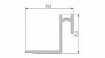 Profil LUMINES typ Roset srebrny anod. 1 m