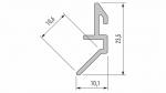 Profil LUMINES typ Fari srebrny anod. 1 m
