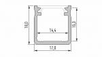 Profil LUMINES typ Y srebrny anod. 2,02 m